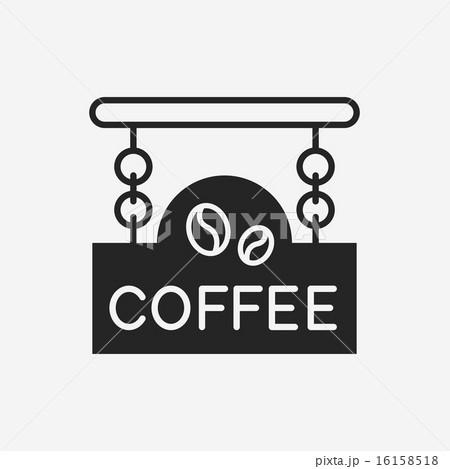 coffee shop sign iconのイラスト素材 [16158518] - PIXTA