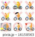 自転車マナー(オレンジ、○×) 16158563