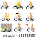 自転車マナー(オレンジ) 16158565
