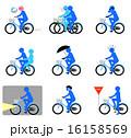 自転車マナー(ブルー) 16158569