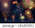 打ち上げ花火 花火 カラフルの写真 16165951