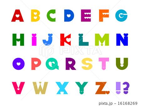アルファベット ハート カラフルのイラスト素材 16168269 Pixta