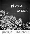 ピザ ピッツァ ビンテージのイラスト 16169208