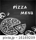 ピザ ピッツァ 手描きのイラスト 16169209