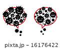ふきだし ベクター 細菌のイラスト 16176422