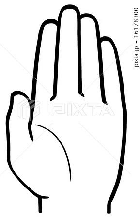 挙手 手のひら 16178300