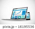 グラフ ウェブサイト ビジネスのイラスト 16195536