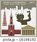 World landmarks icon set 16198192