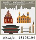 World landmarks icon set 16198194