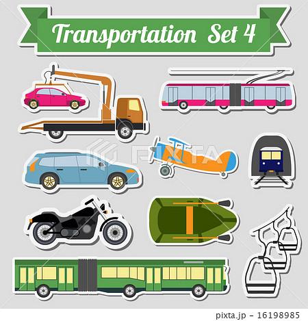 set of all types of transport icon のイラスト素材 16198985 pixta