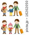 冬休み 家族旅行 ベクターのイラスト 16202050