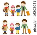 冬休み 家族旅行 ベクターのイラスト 16202051