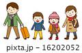 冬休み 家族旅行 ベクターのイラスト 16202052
