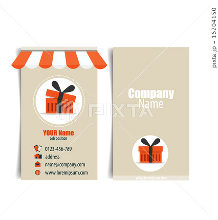 modern business card template vector illustrationのイラスト素材