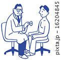 患者 聴診器 健康診断のイラスト 16204845