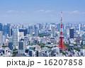 東京タワーとウォーターフロントを望む大都市風景 16207858