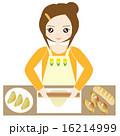主婦 台所 女性のイラスト 16214999