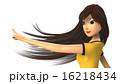 指さす女性の3D-CG 16218434