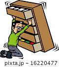地震で家具を押さえる人 16220477