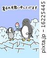 暑中見舞いテンプレート 暑中見舞い ポストカードのイラスト 16225445