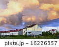 Cottages under cloudy sky 16226357