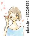 マスカラ アイメイクをする女性 16226439