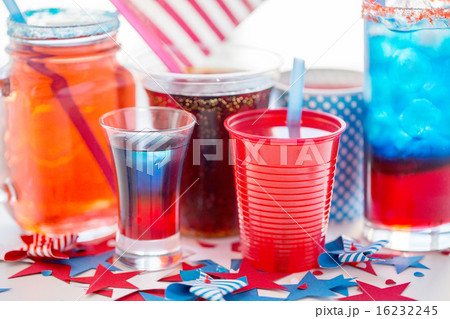 drinks on american independence day partyの写真素材 [16232245] - PIXTA