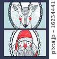 トナカイ xマス クリスマスのイラスト 16234441