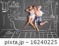 ドローイング カップル 二人の写真 16240225