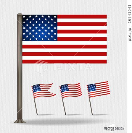 American Flag. Vector illustration.のイラスト素材 [16241641] - PIXTA