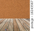 Cork board and wood floor. Vector illustration 16243567