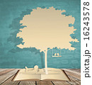 Abstract background with children read a book under tree. Vector 16243578