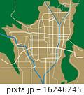 ベクター 市街地図 道路地図のイラスト 16246245
