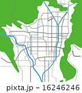 ベクター 市街地図 道路地図のイラスト 16246246