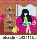 Teen girl Reading A Book 16248281
