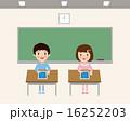 タブレット 操作 タブレット学習のイラスト 16252203