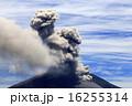 火口 噴火 噴煙の写真 16255314