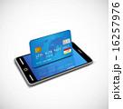 クレジットカード スマホ カードショッピングのイラスト 16257976