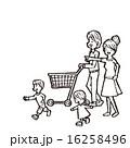 ベクター ショッピングカート 線画のイラスト 16258496