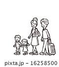 家族旅行 線画 ベクターのイラスト 16258500