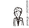 ベクター 線画 笑顔のイラスト 16258509