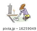 拭き掃除 主婦 掃除のイラスト 16259049