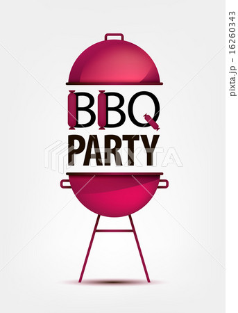 barbecue bbq party invitation with grill logo icon sign の