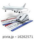 予約 オンライン フライトのイラスト 16262571