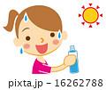 水分補給 ベクター 熱中症対策のイラスト 16262788