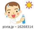 水分補給 ベクター 熱中症対策のイラスト 16268314