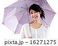 笑顔 女性 日傘の写真 16271275