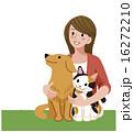 犬 猫 女性 ペット 16272210