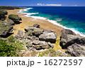 コバルトブルー 喜屋武岬 海の写真 16272597