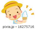 ソフトクリーム ベクター 男の子のイラスト 16275716